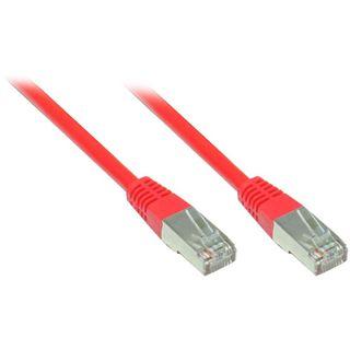 3.00m Good Connections Cat. 5e Patchkabel F/UTP RJ45 Stecker auf RJ45 Stecker Rot