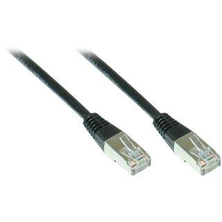 9.00m Good Connections Cat. 5e Patchkabel FTP RJ45 Stecker auf RJ45 Stecker Schwarz