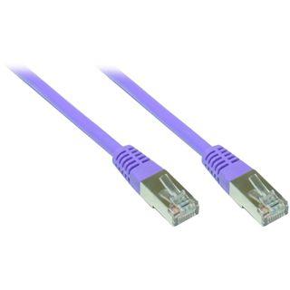 10.00m Good Connections Cat. 5e Patchkabel FTP RJ45 Stecker auf RJ45 Stecker Violett