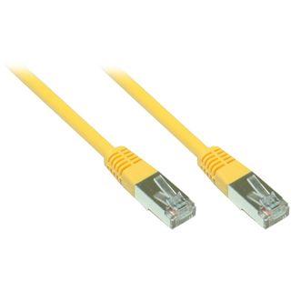 8.00m Good Connections Cat. 5e Patchkabel FTP RJ45 Stecker auf RJ45 Stecker Gelb