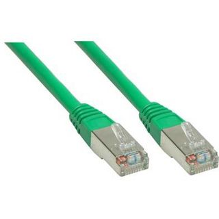 (€7,80*/1m) 0.50m Good Connections Cat. 6 Patchkabel S/FTP PiMF RJ45 Stecker auf RJ45 Stecker Grün