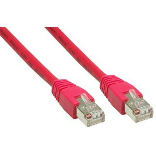 0.50m Good Connections Cat. 6 Patchkabel S/FTP PiMF RJ45 Stecker auf RJ45 Stecker Rot