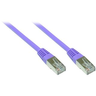 (€1,63*/1m) 3.00m Good Connections Cat. 6 Patchkabel S/FTP PiMF RJ45 Stecker auf RJ45 Stecker Violett