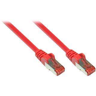 (€7,80*/1m) 0.50m Good Connections Cat. 6a Patchkabel S/FTP PiMF RJ45 Stecker auf RJ45 Stecker Rot halogenfrei