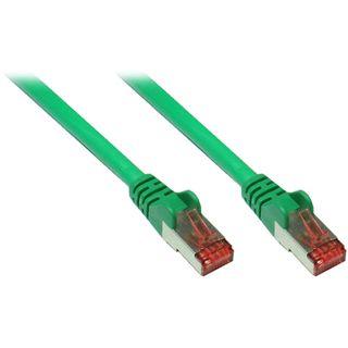 (€4,90*/1m) 1.00m Good Connections Cat. 6a Patchkabel S/FTP PiMF RJ45 Stecker auf RJ45 Stecker Grün halogenfrei