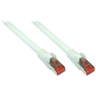 (€1,19*/1m) 10.00m Good Connections Cat. 6a Patchkabel S/FTP PiMF RJ45 Stecker auf RJ45 Stecker Weiß halogenfrei