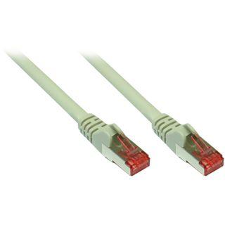(€0,73*/1m) 15.00m Good Connections Cat. 6a Patchkabel S/FTP PiMF RJ45 Stecker auf RJ45 Stecker Grau halogenfrei