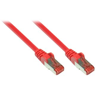 (€0,79*/1m) 15.00m Good Connections Cat. 6a Patchkabel S/FTP PiMF RJ45 Stecker auf RJ45 Stecker Rot halogenfrei