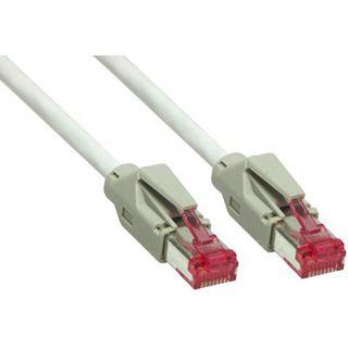 1.00m Good Connections Cat. 6 Patchkabel S/FTP PiMF RJ45 Stecker auf RJ45 Stecker Grau