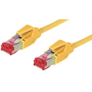1.00m Good Connections Cat. 6 Patchkabel S/FTP PiMF RJ45 Stecker auf RJ45 Stecker Gelb halogenfrei