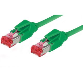 15.00m Good Connections Cat. 6 Patchkabel S/FTP PiMF RJ45 Stecker auf RJ45 Stecker Grün halogenfrei