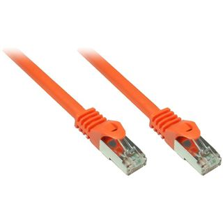 1.00m Good Connections Cat. 7 Rohkabel Patchkabel S/FTP PiMF 600MHz RJ45 Stecker auf RJ45 Stecker Orange