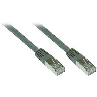 15.00m Good Connections Cat. 7 Rohkabel Patchkabel S/FTP PiMF 600MHz RJ45 Stecker auf RJ45 Stecker Grau