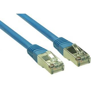 (€0,33*/1m) 30.00m Good Connections Cat. 5e Patchkabel S/FTP RJ45 Stecker auf RJ45 Stecker Blau