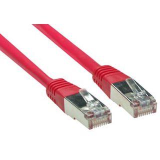 (€3,90*/1m) 1.00m Good Connections Cat. 5e Patchkabel S/FTP RJ45 Stecker auf RJ45 Stecker Rot