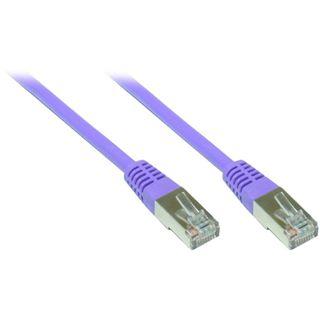 50.00m Good Connections Cat. 5e Patchkabel S/FTP RJ45 Stecker auf RJ45 Stecker Violett