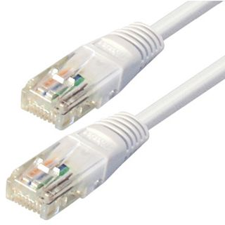 1.00m Good Connections Cat. 5e Patchkabel S/FTP RJ45 Stecker auf RJ45 Stecker Weiß
