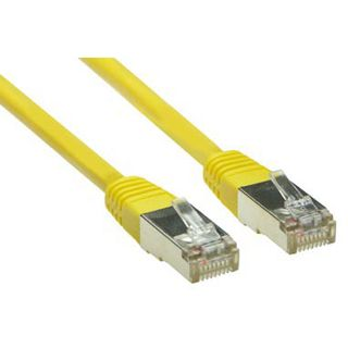 (€0,33*/1m) 30.00m Good Connections Cat. 5e Patchkabel S/FTP RJ45 Stecker auf RJ45 Stecker Gelb