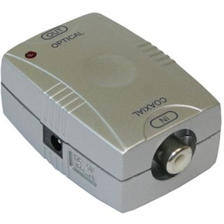 Good Connections Adapter Koax Buchse (Eingang) auf Toslink Buchse (Ausgang) Silber