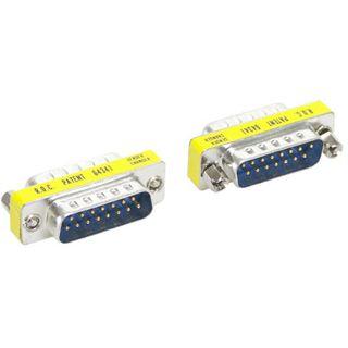Good Connections Adapter Gender-Changer 15pol Stecker auf 15pol Stecker Gelb