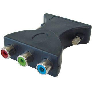 Good Connections Adapter DVI 24+5 Stecker auf 3xCinch Buchse Schwarz