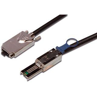 1.00m Good Connections SAS 3Gb/s Anschlusskabel SFF-8088 Stecker auf SFF-8470 Stecker Schwarz