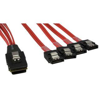 0,5m SAS Anschlusskabel SFF-8087 Stecker auf 4x SATA Backplane Stecker (nicht für HDD)