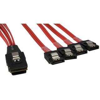 0.75m Good Connections SAS 3Gb/s Anschlusskabel SFF-8087 Stecker auf 4xSATA Backplane Stecker