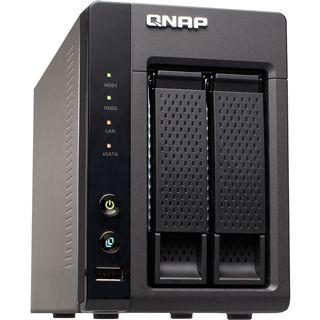 """QNAP Turbostation TS-219P+ NAS System für 2x2,5"""" oder 2x3,5"""" SATA II HDD Schwarz"""
