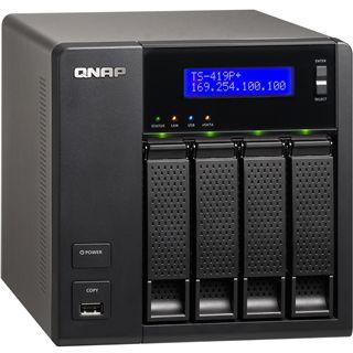 """QNAP Turbostation TS-419P+ NAS System für 4x2,5"""" oder 4x3,5"""" SATA II HDD Schwarz"""