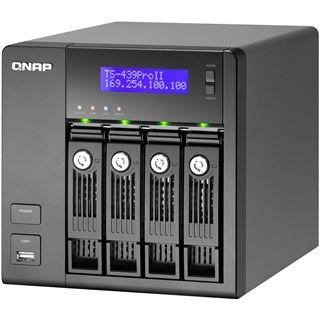 "QNAP Turbostation TS-439 Pro II+ NAS System für 4x2,5"" oder 4x3,5"" SATA II HDD Schwarz"