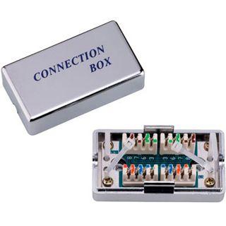 Good Connections Adapter Cat.5e LSA Verbindungsmodul auf Silber geschirmt