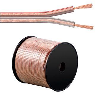 100.00m Good Connections Audio Lautsprecherkabel Standard ohne Stecker auf Transparent auf Spule/2x 2,5mm²