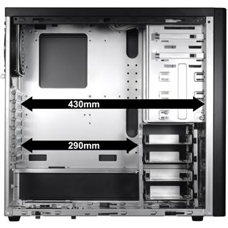 Lian Li PC-7FNW Window gedaemmt Midi Tower ohne Netzteil schwarz