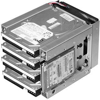 "Lian Li silberner 3x 5.25"" HDD Käfig für 4x 3.5"" und 2x 2.5"" (EX-36A2)"