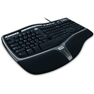 Microsoft Natural Ergonomic Keyboard 4000 USB Englisch schwarz (kabelgebunden)
