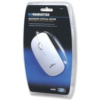 Manhattan Slim Optical USB weiß (kabelgebunden)