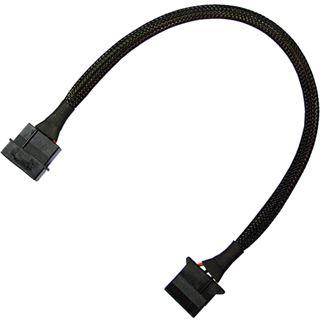 Nanoxia 30 cm schwarzes Verlängerungskabel für 4-Pin Molex (NX4PV30)