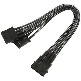 Nanoxia 20 cm carbon einzelsleeve Y-Kabel für 4-Pin Molex (NX4PY2EC)