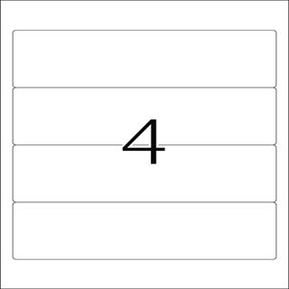 Herma 5123 blickdicht Ordneretiketten 19.2x5.9 cm (25 Blatt (100 Etiketten))