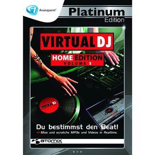 Avanquest Virtual DJ 5 Home Edition - Platinum Edition 32 Bit Deutsch Vollversion