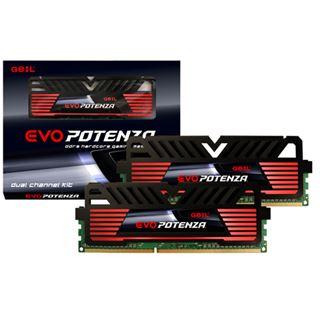 8GB GeIL EVO Potenza Onyx Black DDR3-1600 DIMM CL9 Dual Kit