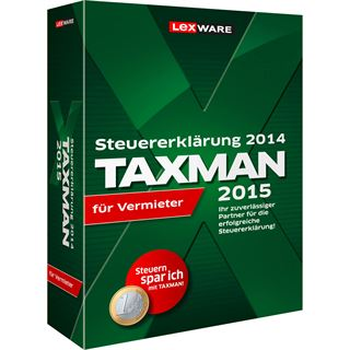 Lexware Taxman 2015 für Vermieter 32/64 Bit Deutsch Finanzen Vollversion PC (CD)