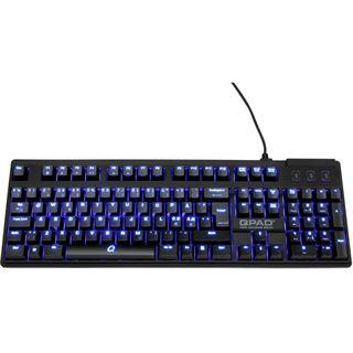 QPad MK-70 Pro CHERRY MX Red PS/2 & USB Deutsch schwarz (kabelgebunden)