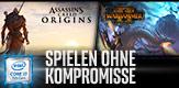 Ausgewählten Intel® Core™ i7 Prozessors kaufen und PC-Download-Code für Assassin's Creed® Origins und Total War: Warhammer II erhalten.